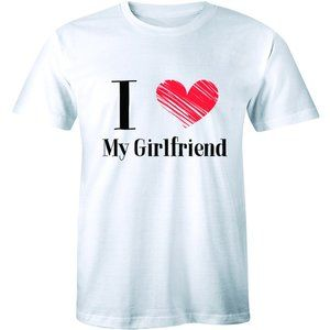 I Love My Girlfriend Couple Valentines T-Shirt